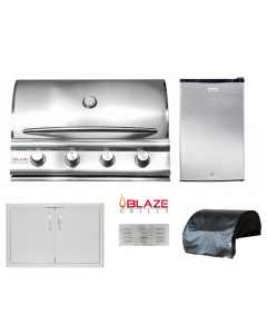 Blaze 5-Piece Outdoor Kitchen Package With BLZ-4 Built-In Grill -  BLZ-4 Package 1