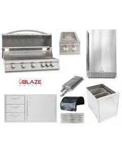Blaze 8 Piece Outdoor Kitchen Package With 5 Burner LTE Grill - BLZ-5LTE2 Package 1