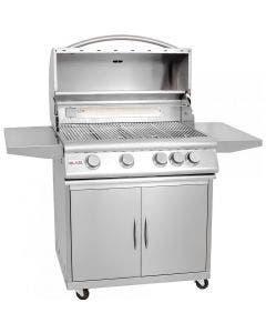 Blaze 32-Inch 4-Burner Freestanding Gas Grill With Rear Infrared Burner - BLZ-4 / BLZ-4-CART