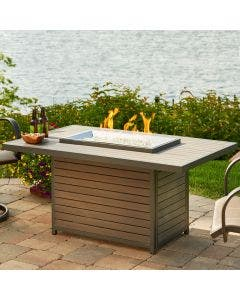 The Outdoor Greatroom Brooks 50-Inch Rectangular Gas Fire Pit Table - BRK-1224-K