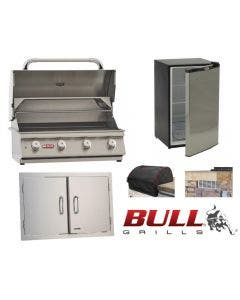 Bull 5-Piece Outdoor Kitchen Package With The Lonestar Grill - Lonestar Package 1