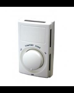 Qmark Heater Line Voltage Thermostat, Snap Action, Single-Pole, 22 Amp, 120V-240V, White - MS26