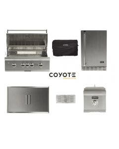 Coyote 6-Piece Outdoor Kitchen Package With 36-Inch S-Series Grill - C2SL36 Package 1