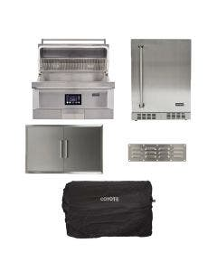 Coyote 5-Piece 36-Inch Pellet Grill Kitchen Package