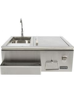 Coyote 30-Inch Stainless Steel Built-In Refreshment Center - CRC