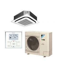 Daikin SkyAir FCQ Series 30,000 BTU 15.5 SEER Single Zone Ductless Mini-Split System - Ceiling Cassette