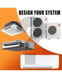 Mitsubishi Design Your Own Dual Zone Heat Pump System