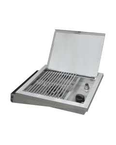 Broilmaster Stainless Steel Gas Side Burner with Required Shelves - DPA150 / DPA153 / DPA152