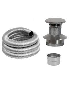 Duravent 6-Inch Zero-Clearance Chimney Liner Kit - 6DFPRO-25KFB
