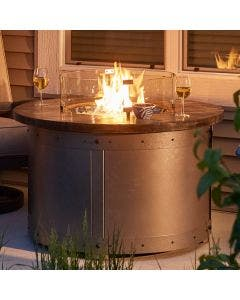 The Outdoor Greatroom Edison Round Gas Fire Pit Table - ED-20