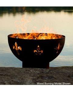 Fire Pit Art Gas Fire Pit- Fleur De Lis