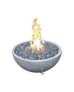 TrueFlame GFRC 30-Inch Round Fire Bowl - NG - TF-GFRC-FBW