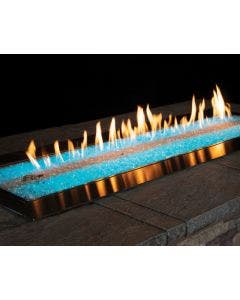 Empire 48-Inch Fire Pit Burner With LED Lights And Fire Glass- OL48TP18 / DG1