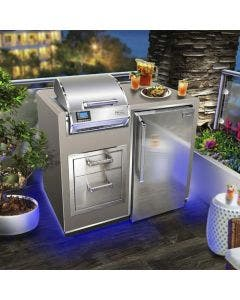 Fire Magic Electric Grill Island Bundle with Refrigerator & Double Drawers - DC250-44SM