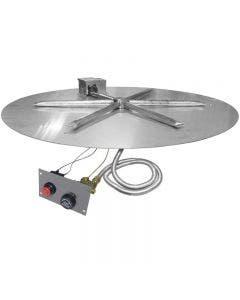 Firegear Fire Pit Burner Kit - 34 Inch Flame Sensing Flat Pan