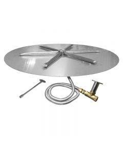Firegear Fire Pit Burner Kit - 29 Inch Match Light Flat Pan