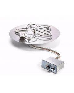 HPC 30 Inch Flat Pan Fire Pit Kit- Flame Sensing Ignition - PENTA30FPPK-FLEX