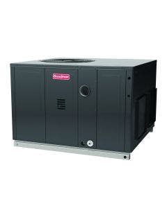 3.5 Ton 14 SEER 100,000 BTU Goodman Dual Fuel Heat Pump and Gas Package Unit - Front Right