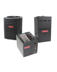 1.5 Ton 13 SEER 80% AFUE 40,000 BTU Goodman Gas Furnace and Air Conditioner System - Vertical
