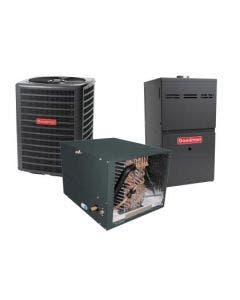 1.5 Ton 13 SEER 80% AFUE 40,000 BTU Goodman Gas Furnace and Air Conditioner System - Horizontal