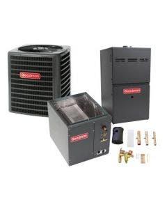 1.5 Ton 14.5 SEER 80% AFUE 40,000 BTU Goodman Gas Furnace and Heat Pump System - Vertical