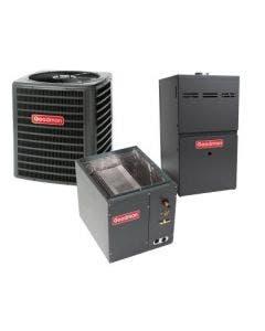 2 Ton 14 SEER 80% AFUE 40,000 BTU Goodman Gas Furnace and Heat Pump System - Vertical