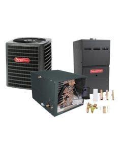 1.5 Ton 14.5 SEER 80% AFUE 60,000 BTU Goodman Gas Furnace and Heat Pump System - Horizontal