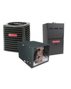 2 Ton 14.5 SEER 80% AFUE 80,000 BTU Goodman Gas Furnace and Heat Pump System - Horizontal