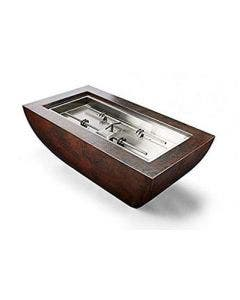 HPC Phoenix 47x25-Inch Hammered Copper Gas Fire Bowl With H-Burner