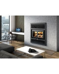 Ventis HE325 Wood Fireplace With Blower, Gravity Kit, And Faceplate - Up To 2200 Square Feet