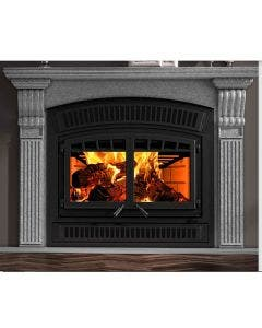 Ventis HE350 Wood Fireplace With Blower, Face, And Brick Kit - Up To 2800 Square Feet