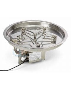 HPC 37-Inch Electronic Ignition Bowl Pan Gas Fire Pit Kit - PENTA37EI