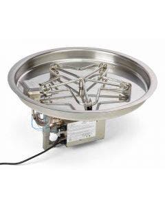 HPC 25-Inch Electronic Ignition Bowl Pan Gas Fire Pit Kit - PENTA25EI