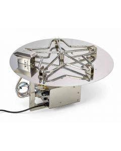 HPC 24-Inch Electronic Ignition Flat Pan Gas Fire Pit Kit - PENTA24EI