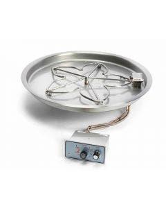 HPC 37 Inch Bowl Pan Fire Pit Kit- Flame Sensing Ignition - PENTA37FPPK-FLEX