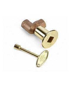 HPC 3/4-Inch 300K BTU High Capacity 90 Degree Brass Key Valve With Key - MABB-HC