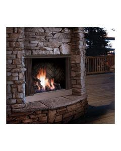 Kingsman Stainless Steel Outdoor Gas Fireplace- OFP42NS