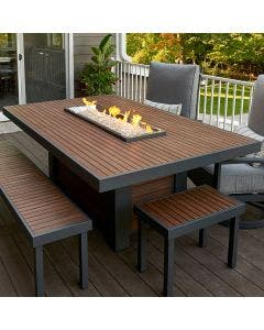The Outdoor Greatroom Kenwood Dining Gas Fire Pit Table - KW-1242-K