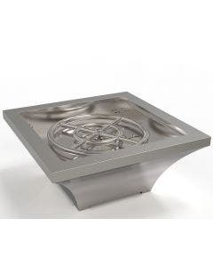 TrueFlame Lume Series Square High Rise Fire Bowl - NG - TF-FBL-LAV-SS