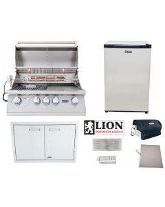 Lion 4-Piece Grill Package With L75000 Built-In Grill - L75000 Package 1