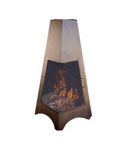 "Buck Stove 46"" Bronze Pyramid Wood Burning Chimenea"