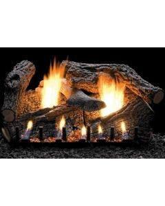 Empire Vent-Free Super Charred Oak Ceramic Fiber Log Set 30 inch