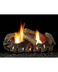 Empire Vent-Free Stacked Aged Oak Refractory Log Set 30 inch