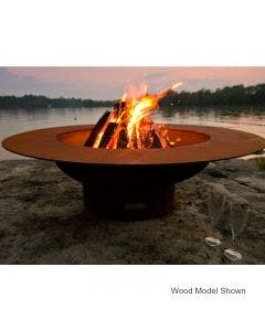 Fire Pit Art Gas Fire Pit - Magnum With Lid