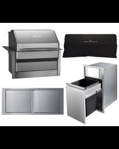 Memphis Grills Pro 28-Inch 4-Piece Pellet Grill Outdoor Kitchen Package