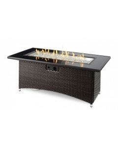 The Outdoor Greatroom Balsam Montego 59-Inch Linear Gas Fire Pit Table- MG-1242-BLSM-K