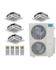 MRCOOL Olympus 48,000 BTU Ducted Heat Pump Split System Quad Zone Cassette 12 + 12 + 12 + 12