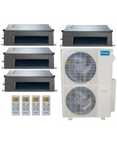 MRCOOL Olympus 48,000 BTU Ducted Heat Pump Split System Quad Zone Concealed Duct 12 + 12 + 12 + 12