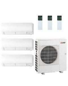 42,000 BTU 19.7 SEER Mitsubishi Tri Zone  Heat Pump System 12+18+18