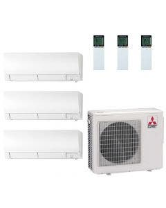 25,000 BTU 20 SEER Mitsubishi Tri Zone  Heat Pump System 6+6+15